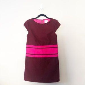 Julie Brown Wool Stripe Shift Dress Career